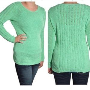 Rachel Zoe Karla Openwork Sweater Long Sleeve Lrg